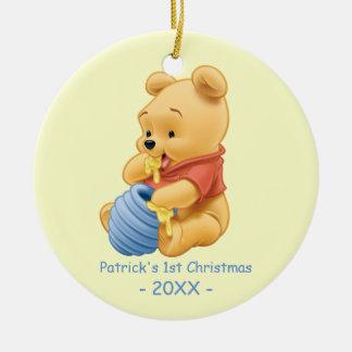 El primer navidad del bebé, bebé bah adorno