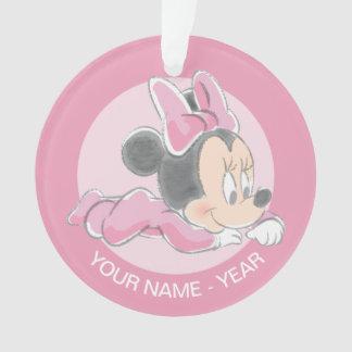 El primer navidad del bebé, bebé Minnie