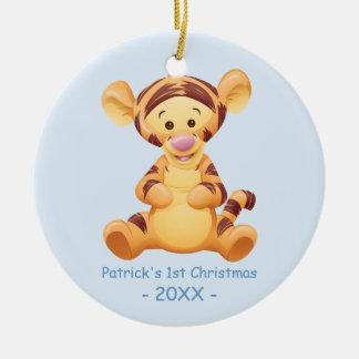 El primer navidad del bebé, bebé Tigger Ornatos