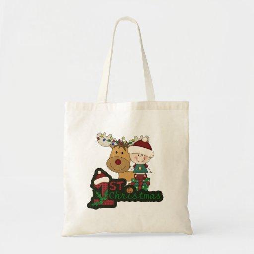 El primer navidad del bebé bolsa tela barata