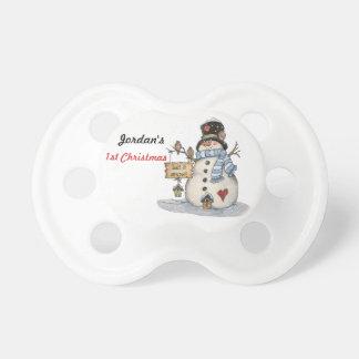 El primer navidad del bebé lo dejó nevar chupetes para bebés
