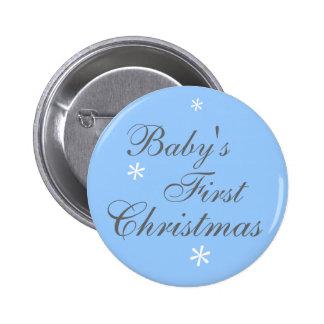 El primer navidad del bebé (muchacho) - botón