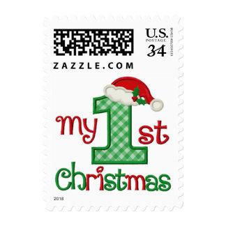 El primer navidad del bebé - nombre modificado sello