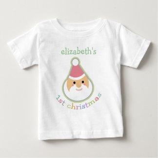 El primer navidad del bebé personalizado camisas