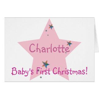 ¡El primer navidad del bebé! - Personalizar Tarjeta De Felicitación