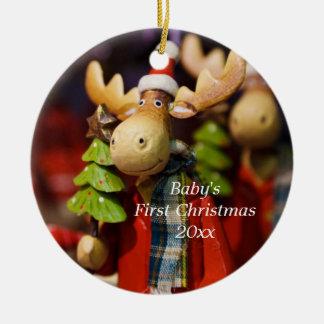 El primer navidad del bebé personalizó el ornament adornos