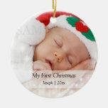 El primer navidad del bebé personalizó la adorno para reyes