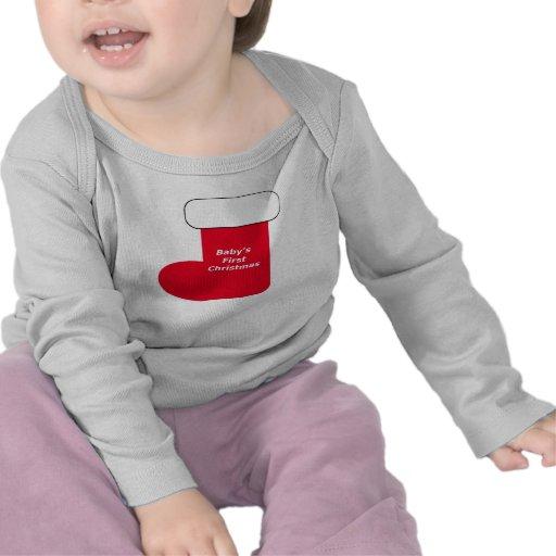 El primer navidad del bebé que almacena la camisa