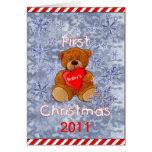 El primer navidad del bebé tarjeta de felicitación