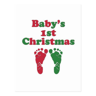 El primer navidad del bebé tarjeta postal