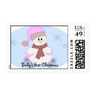 El primer navidad del bebé timbres postales
