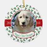 El primer navidad del perrito - acebo y bayas