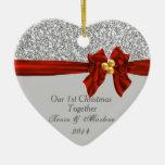 El primer navidad elegante junto adorna Bling Ornamento Para Reyes Magos