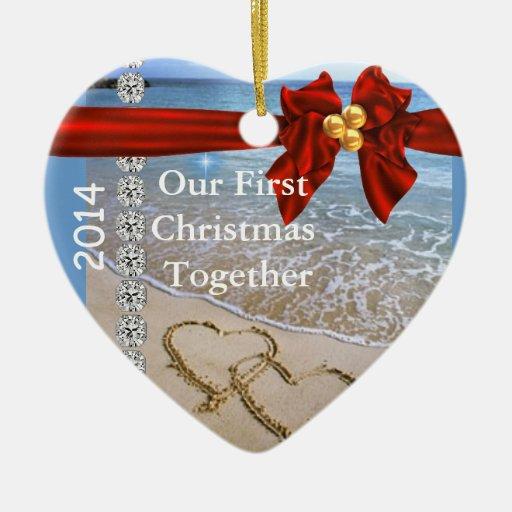 El primer navidad JUNTO VARA EL ORNAMENTO 2014 bli Adorno De Reyes