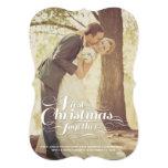 El primer navidad juntos casó saludos del día de invitación 12,7 x 17,8 cm