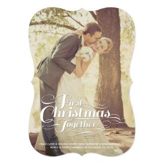 """El primer navidad juntos casó saludos del día de invitación 5"""" x 7"""""""