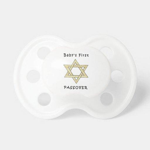 El primer Passover del bebé Chupete
