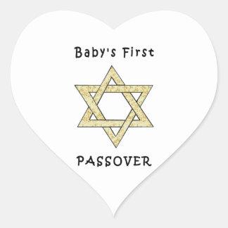 El primer Passover del bebé Colcomanias De Corazon Personalizadas