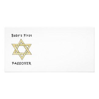 El primer Passover del bebé Tarjetas Fotograficas Personalizadas