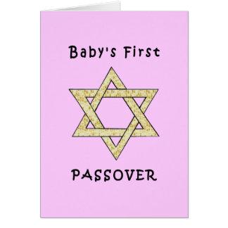 El primer Passover del bebé Tarjeta Pequeña