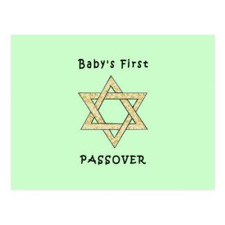 El primer Passover del bebé Postal