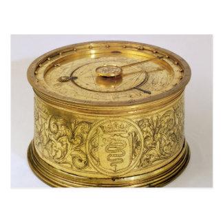 El primer reloj de resorte con el caracol, 1525 postales