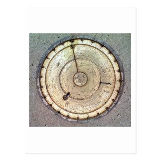El primer reloj de resorte con el caracol, vista a tarjetas postales
