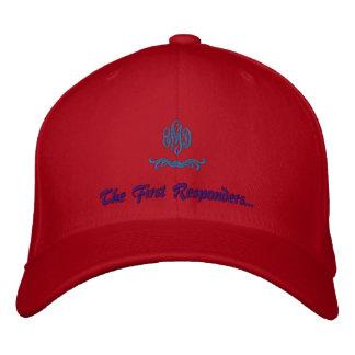 El primer respondedor gorra bordada