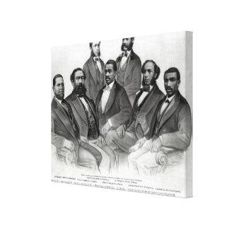 El primer senador y representantes coloreados impresion de lienzo