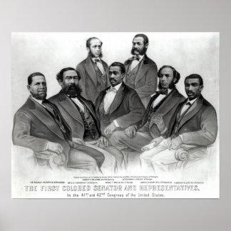 El primer senador y representantes coloreados impresiones