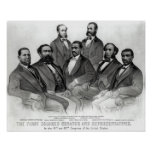 El primer senador y representantes coloreados póster