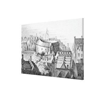 El primer teatro del globo o teatro color de rosa impresión en lienzo
