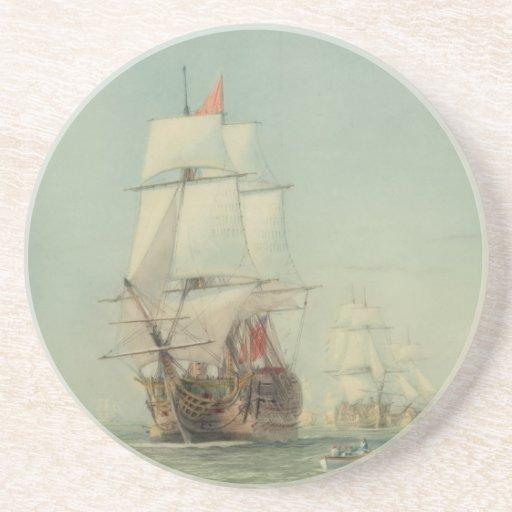 El primer viaje del H.M.S. Victory en 1778 Posavaso Para Bebida