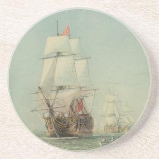 El primer viaje del H.M.S. Victory en 1778 Posavasos Diseño