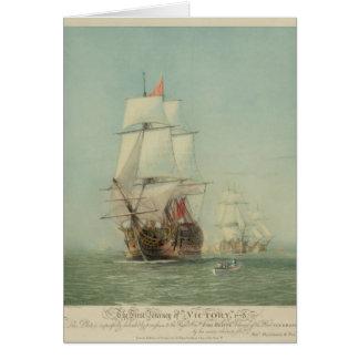 El primer viaje del H.M.S. Victory en 1778 Tarjeta De Felicitación