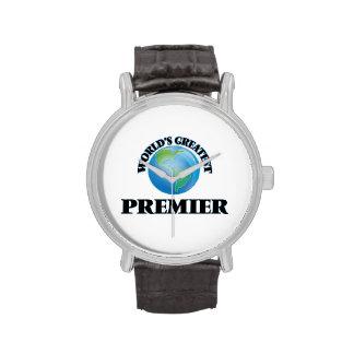El primero ministro más grande del mundo relojes de mano