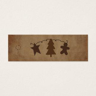 El primitivo adorna la etiqueta colgante tarjetas de visita mini
