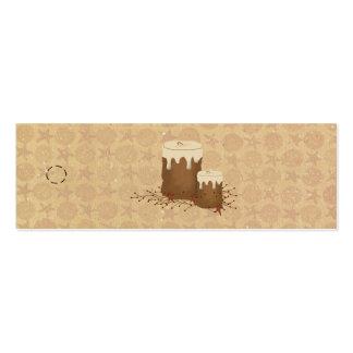 El primitivo mira al trasluz la etiqueta colgante tarjetas de visita mini