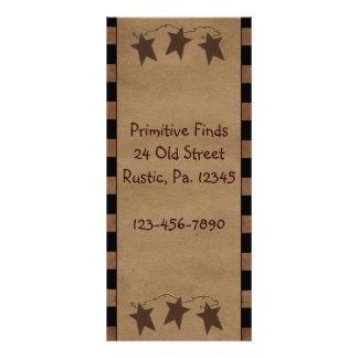 El primitivo protagoniza la tarjeta del estante lonas personalizadas