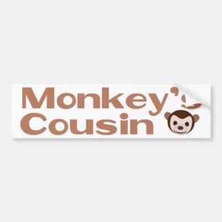 El primo del mono etiqueta de parachoque