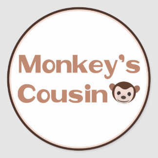 El primo del mono pegatina redonda