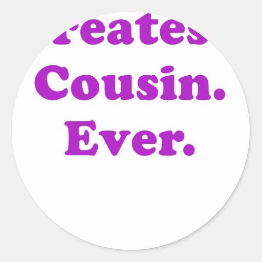El primo más grande nunca etiquetas redondas