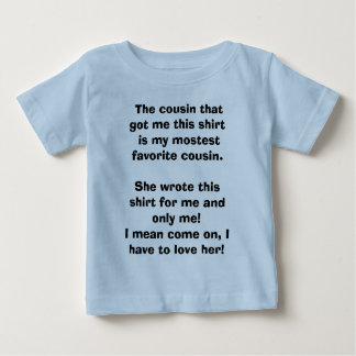 El primo que me consiguió esta camisa es mis