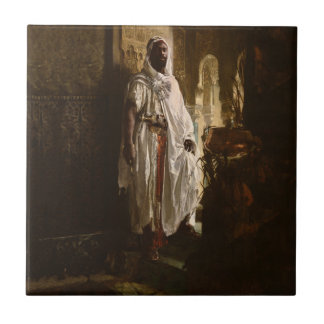 El principal arte africano del Moorish Azulejo Cuadrado Pequeño