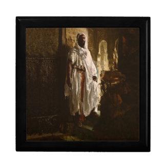 El principal arte africano del Moorish Joyero Cuadrado Grande