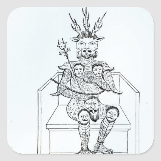 El príncipe de la oscuridad calcomania cuadradas personalizada