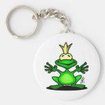 El príncipe de la rana llavero redondo tipo pin