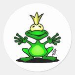 El príncipe de la rana pegatina redonda