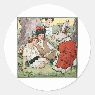 El príncipe del conejo pegatina redonda