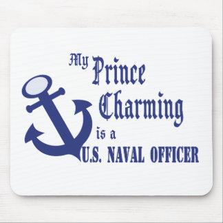 El príncipe el encantar es oficial naval de los E. Alfombrillas De Ratones